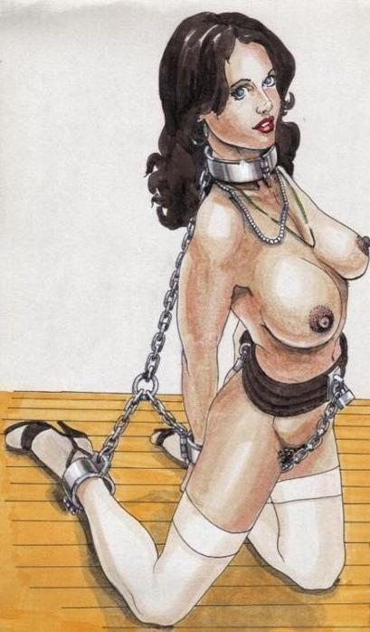 Рисунки с рабынями в кандалах